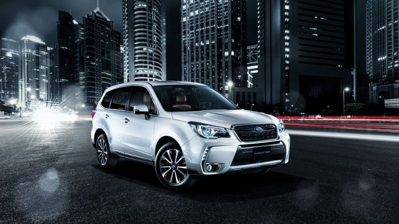 Subaru Forester, crossover, night (horizontal)