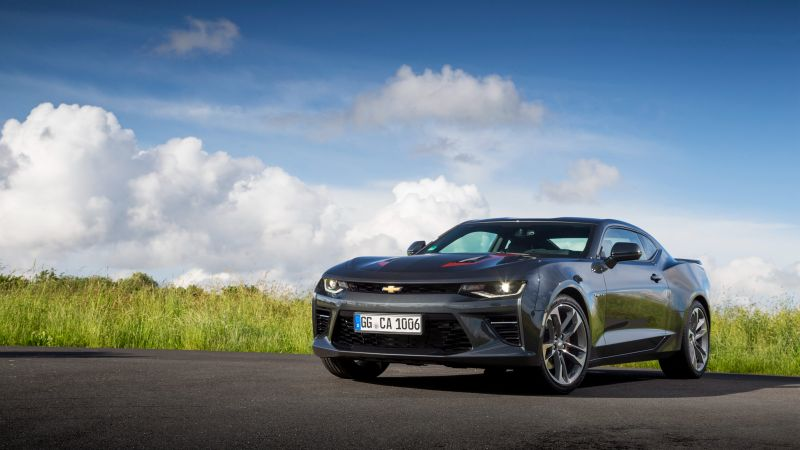 Chevrolet Camaro 50th Anniversary Edition, black, speed (horizontal)