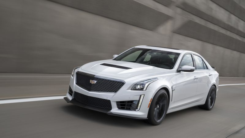 Cadillac ATS V, Carbon Black Sport Package, white