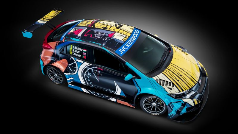 Honda Civic WTCC, Art Car Jean Graton (horizontal)