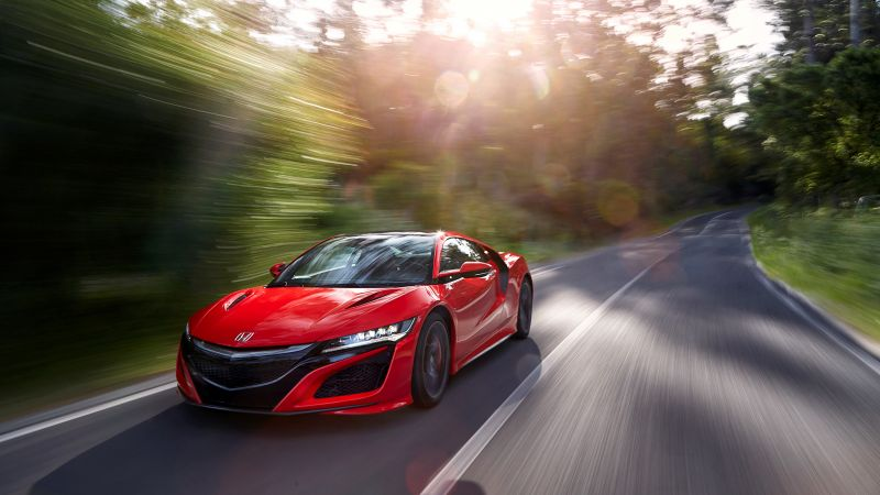 Honda NSX, supercar, speed, red