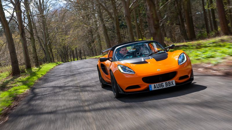 Lotus Elise Cup 250, roadster, speed, orange