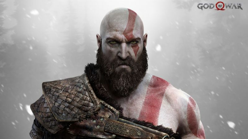 God of War, Kratos, Ps4 (horizontal)