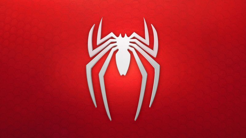 spiderman, logo, background, red, white (horizontal)