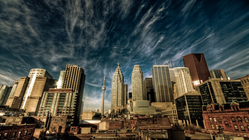 Toronto, Canada, downtown, sky, clouds, travel, vacation, booking