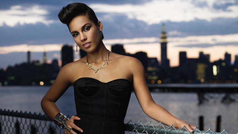 Alicia Keys, Most Popular Celebs, singer, songwriter, record producer, actress, car, taxi (horizontal)