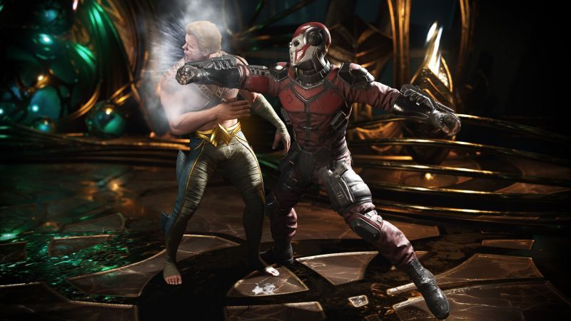 Injustice 2, deadshot, aquaman, fighting, PC, PlayStation, PS4, Xbox One (horizontal)