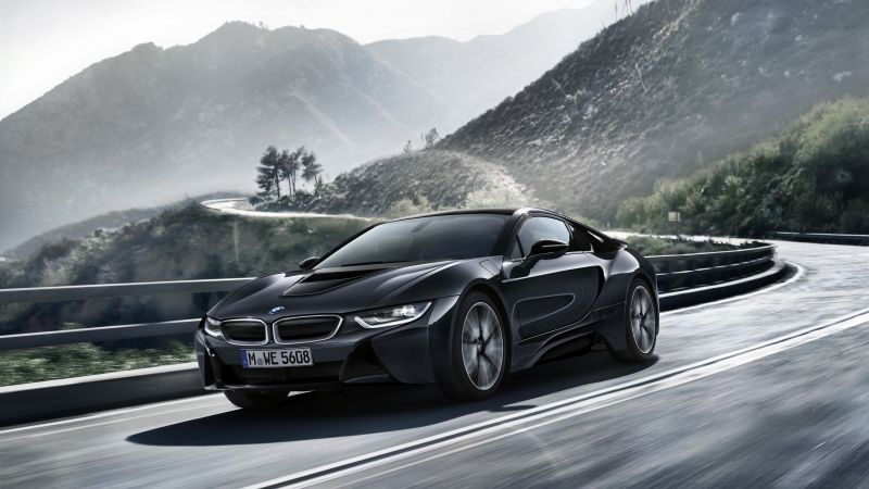 "BMW i8 ""Protonic Dark Silver Edition"", paris auto show 2016, black (horizontal)"