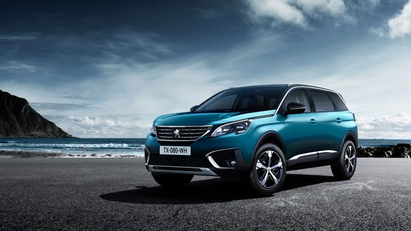 Peugeot 5008, Paris Auto Show 2016, crossover, blue