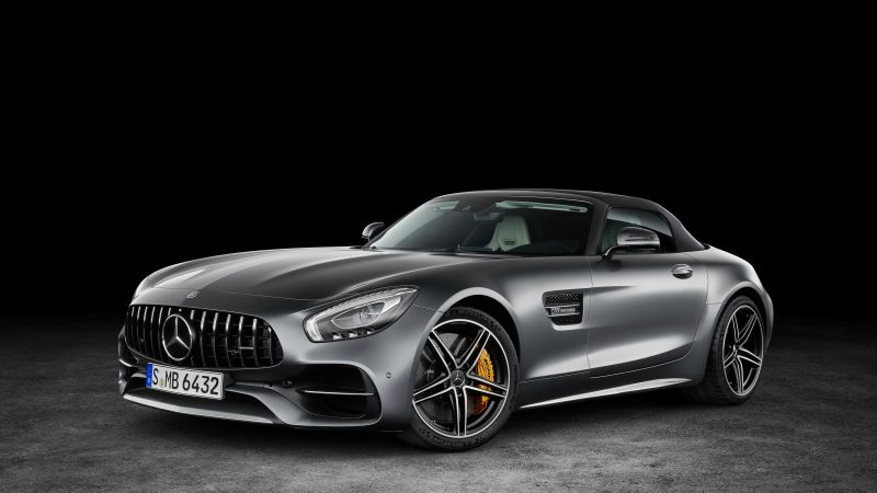 Mercedes-AMG GT C Roadster, paris auto show 2016, roadster, silver (horizontal)