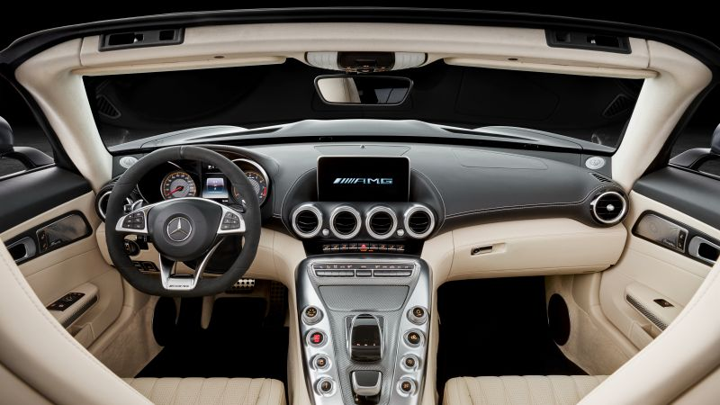 Mercedes-AMG GT C Roadster, paris auto show 2016, roadster, interior
