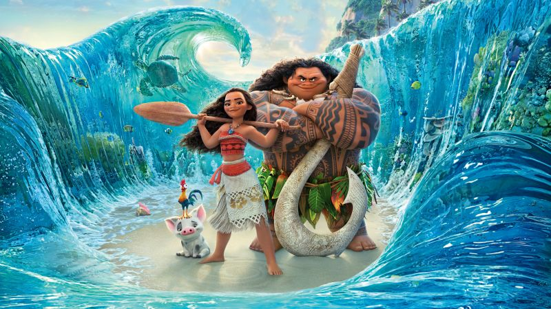 Moana, maui, best animation movies of 2016