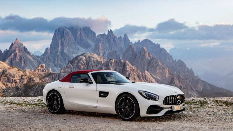 Mercedes-AMG GT C Roadster, paris auto show 2016, roadster, white