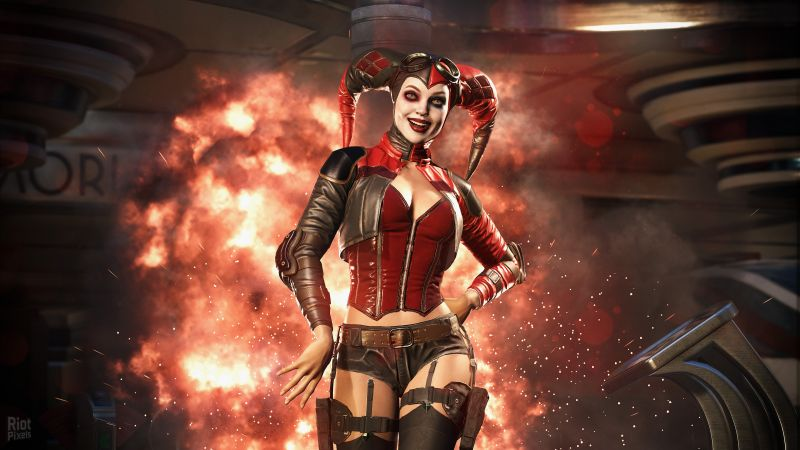 Injustice 2, Harley Quinn, fighting, PC, PlayStation, PS4, Xbox One (horizontal)