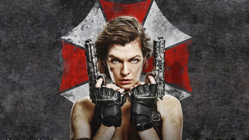 Resident Evil: The Final Chapter, Milla Jovovich, guns, best movies