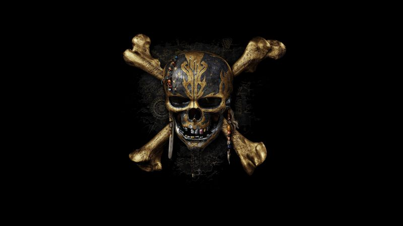 Pirates of the Caribbean: Dead Men Tell No Tales, skull, best movies (horizontal)