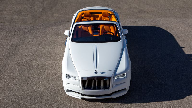 Spofec Rolls-Royce Dawn, white, luxury cars (horizontal)