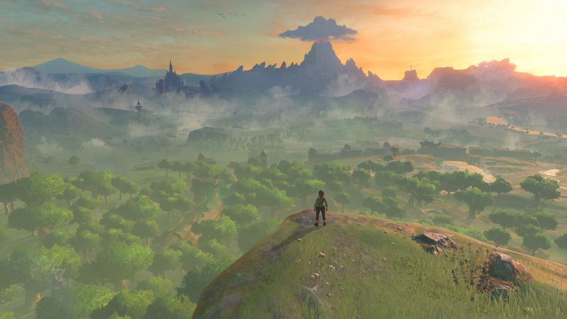 The Legend of Zelda: Breath of the Wild, best games, nature, Wii U, NX (horizontal)