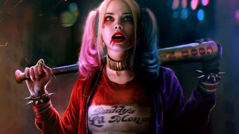 Harley quinn, Suicide Squad, art, Margot Robbie, Best Movies of 2016 (horizontal)