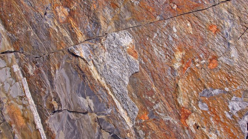 stone, brown, pattern, cracks