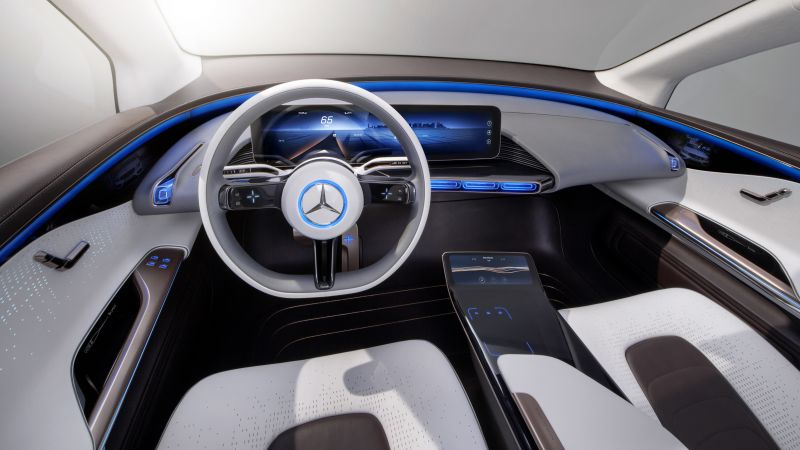 Mercedes Generation EQ, electric cars, paris auto show 2016, interior