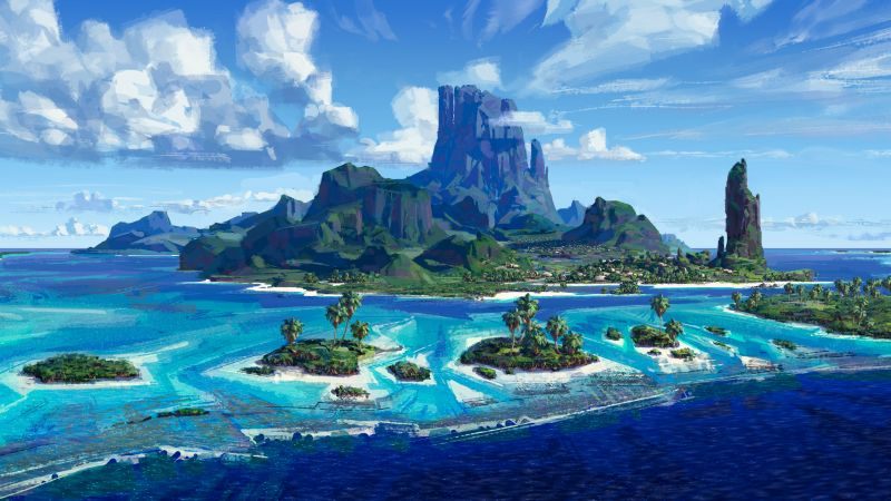 Moana, island, best animation movies of 2016