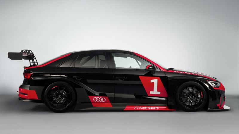 Audi RS 3 LMS, paris auto show 2016 (horizontal)