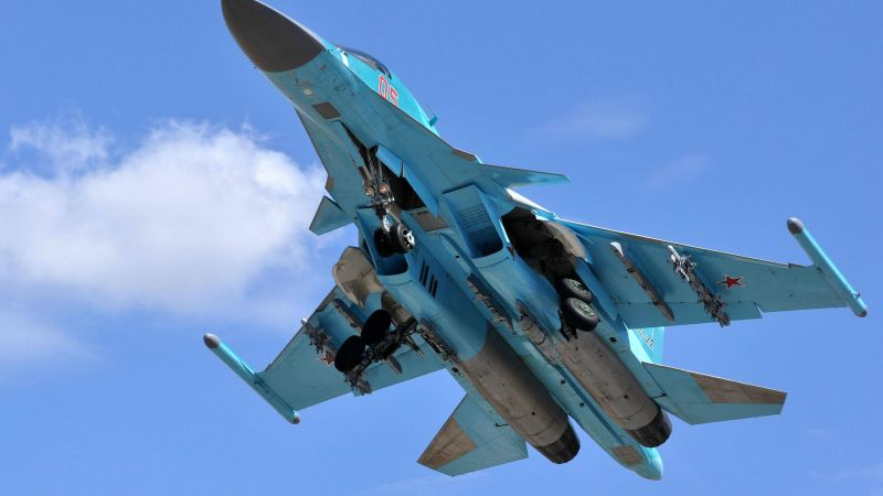 Sukhoi Su-34, fighter aircraft, Russian army, air force, Russia (horizontal)