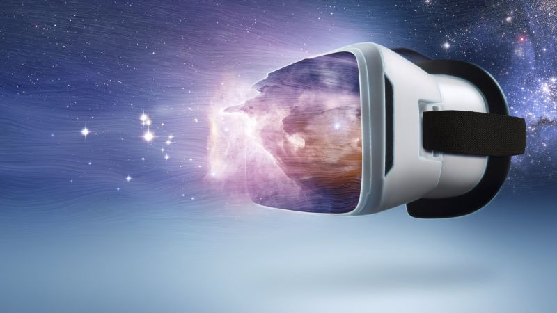 VR, Virtual Reality, space (horizontal)
