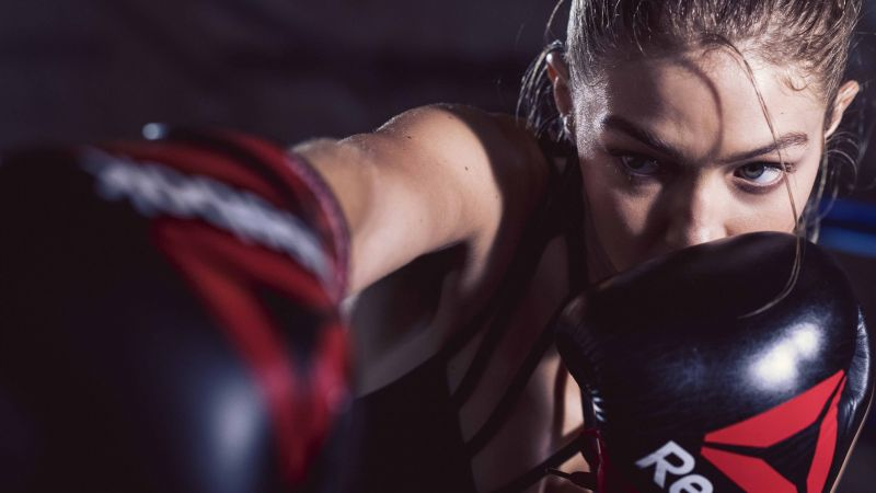 Gigi Hadid, reebok, boxing, Most popular celebs (horizontal)