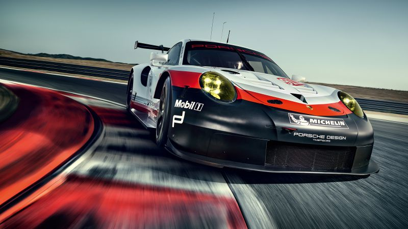Porsche 911 RSR, sport car, racing (horizontal)