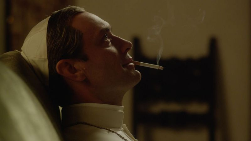 The Young Pope, Jude Law, smoke, Diane Keaton, best tv series (horizontal)