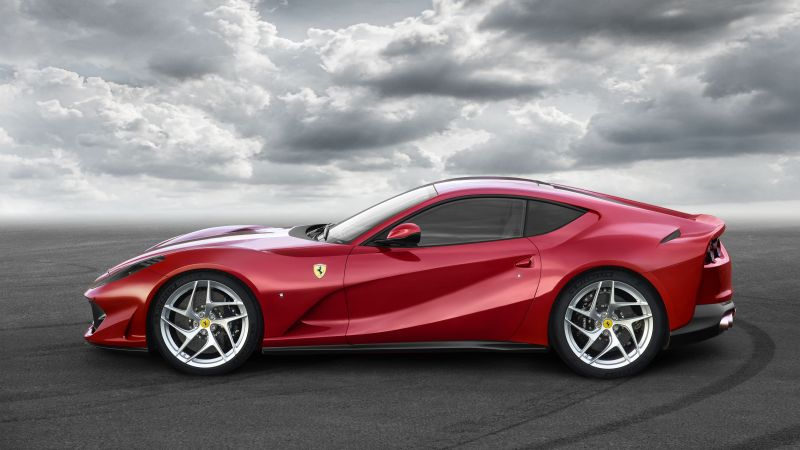 Ferrari 812 Superfast, supercar, side