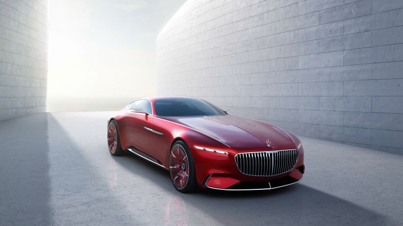 Mercedes-Maybach 6, coupe, concept, front