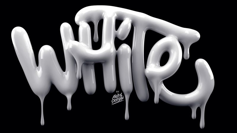 typography, 5k, 4k wallpaper, font, abstract, white, shape, 3D