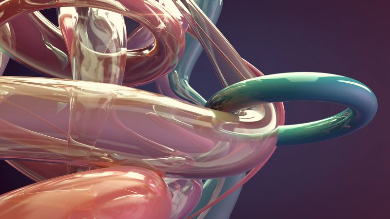 abstract, shape, 3D, 5k, 4k wallpaper