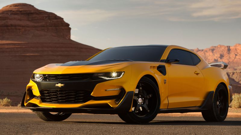 Chevrolet Camaro, Bumblebee, Transformers: The Last Knight (horizontal)