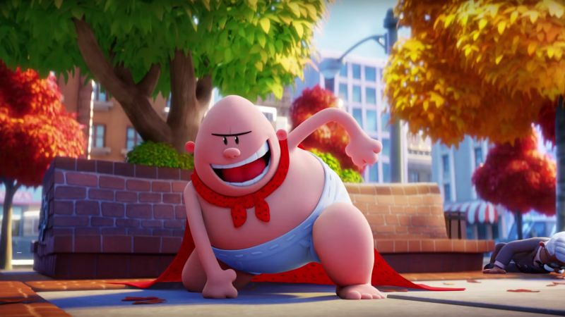 Captain Underpants, The First Epic Movie, best animation movies (horizontal)