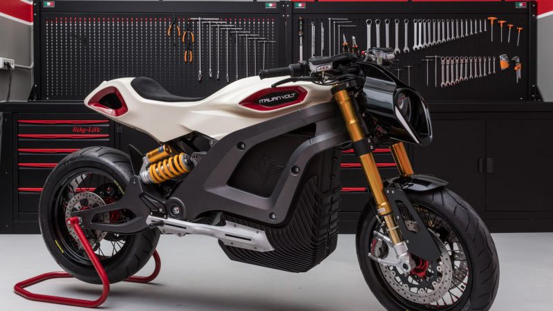Italian Volt Lacama, electric motorcycle, 3d printed, custom, best bikes