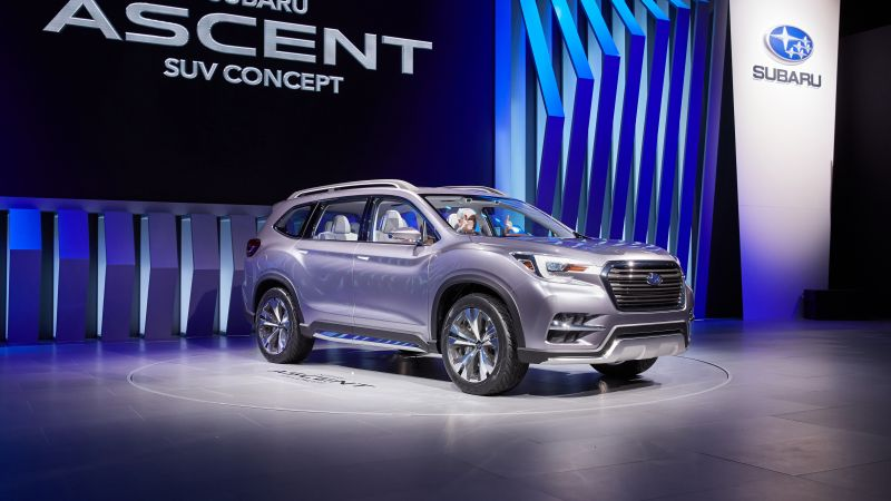 Subaru Ascent, concept, 2017 New York Auto Show (horizontal)
