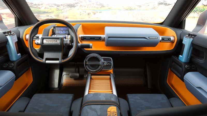 Toyota FT-4X, concept, orange, interior, 2017 New York Auto Show (horizontal)