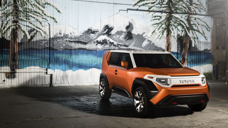Toyota FT-4X, concept, orange, 2017 New York Auto Show (horizontal)