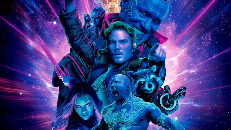 Guardians of the Galaxy Vol. 2, Star-Lord, Gamora, Drax, Rocket, Yondu Udonta, best movies (horizontal)