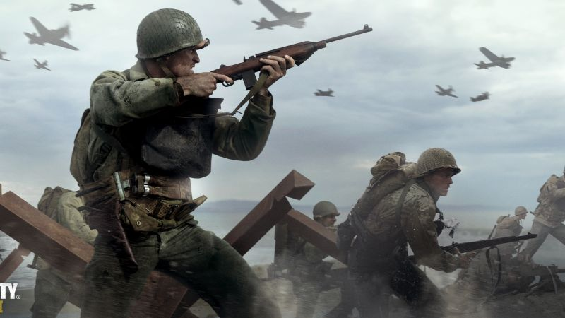Call of Duty: WW2, 4k, 5k, poster, screenshot, , E3 2017 (horizontal)
