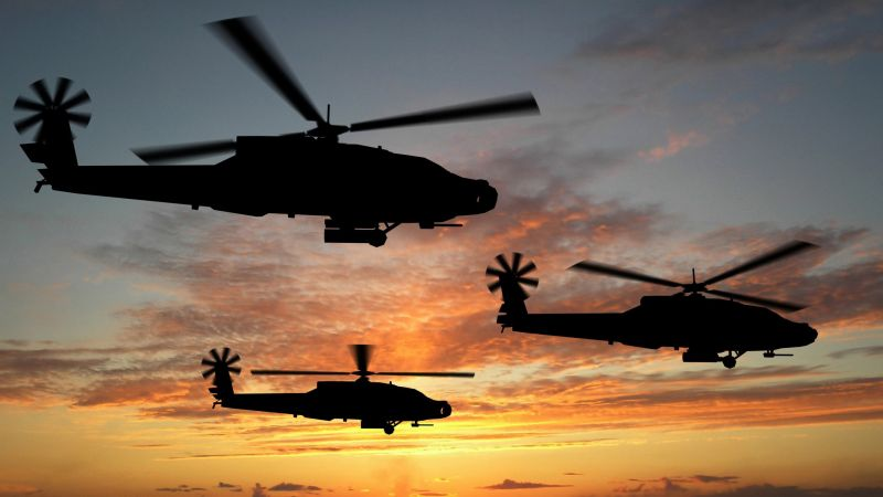 Boeing AH-64D Apache, attack helicopter, U.S. Army, U.S. Air Force (horizontal)