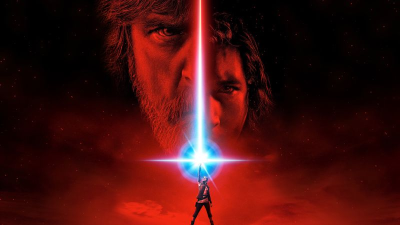 Star Wars: The Last Jedi, poster, Mark Hamill, Daisy Ridley, best movies (horizontal)