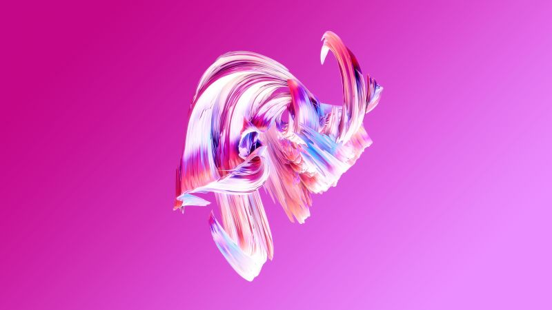 HD, abstract, Paintwaves, pink (horizontal)