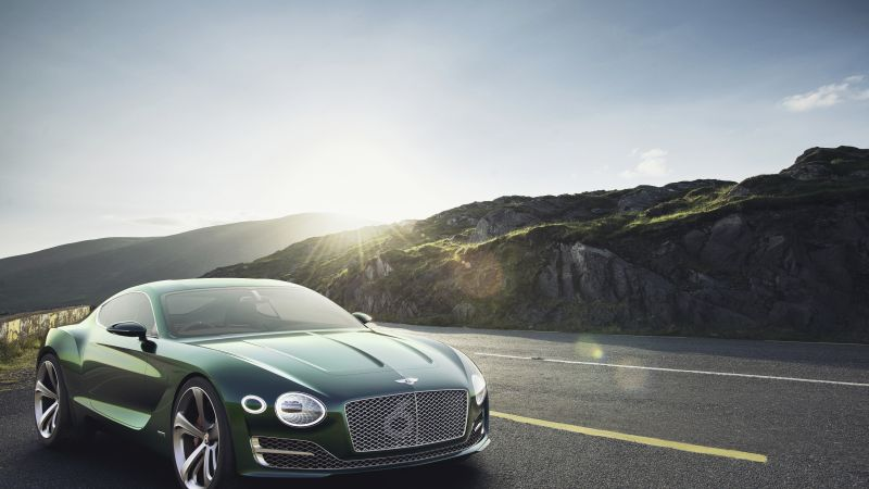 Bentley EXP12 Speed 6e, 4k, 8k, green (horizontal)