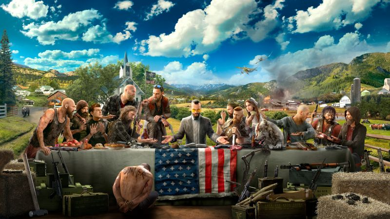 Far Cry 5, 4K, 8K, poster, art (horizontal)