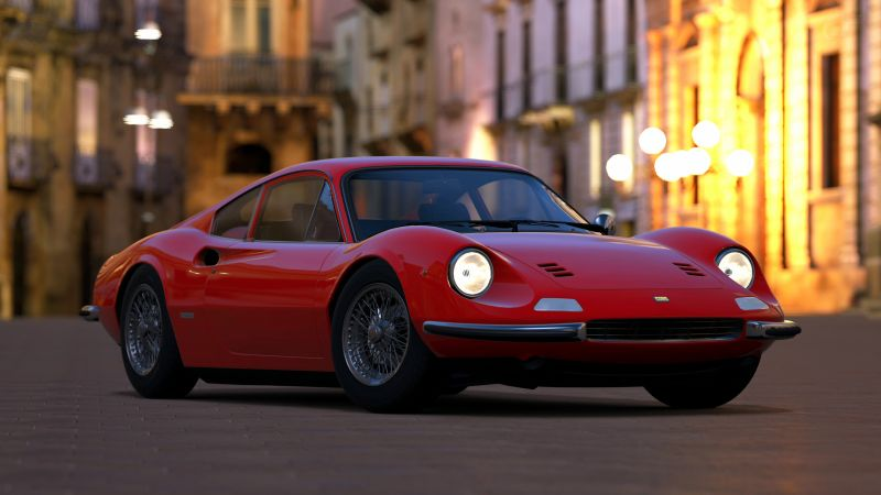 Ferrari Dino, red, HD, 4k, Swiss Classic World (horizontal)